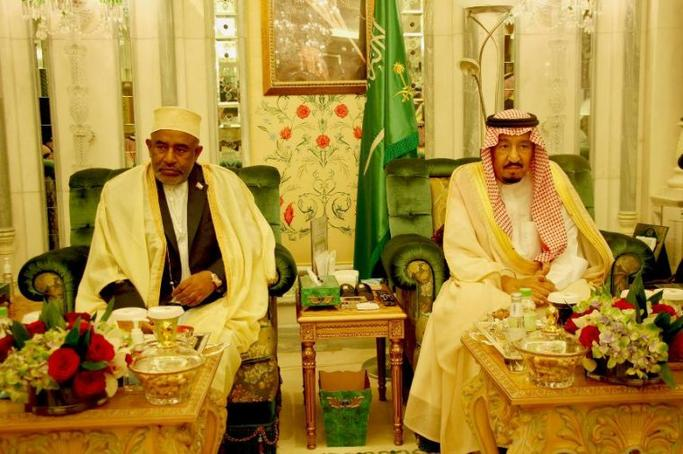 Rencontre entre le President AZALI Assoumani et le Roi Salman bin Abdoulaziz Al-Saud
