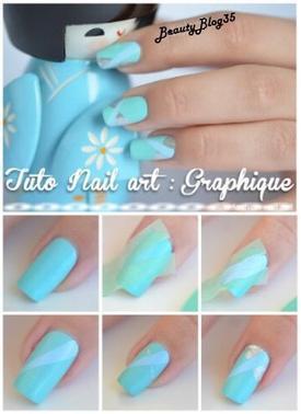 Nail art graphique !