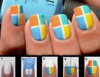 Nail art carreaux