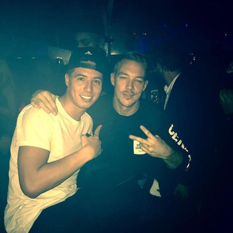 Good vibes with this great DJ #diplo