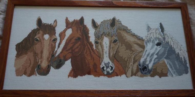 Broderie chevaux