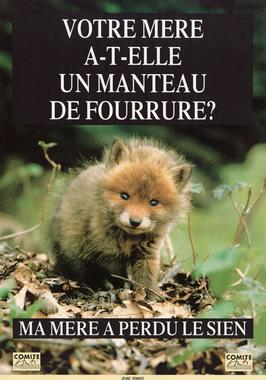 Non au retour de la fourre animale ! Message de la SPA...