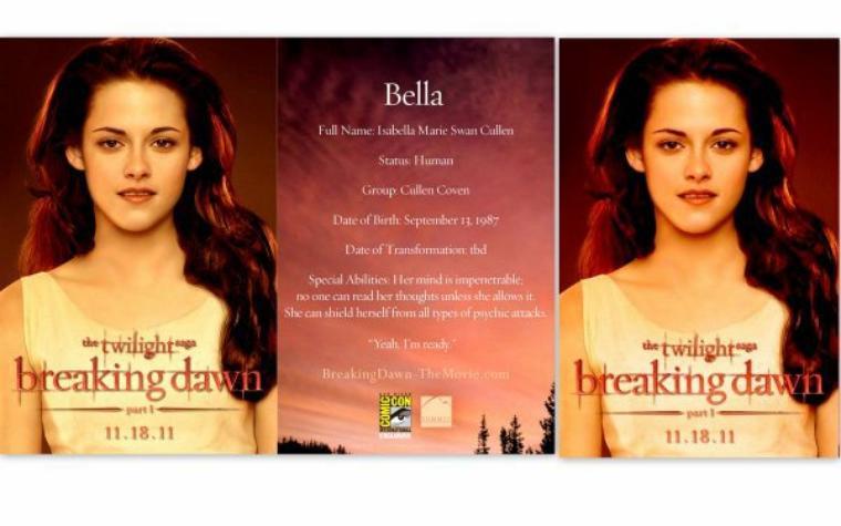 Toute les affiches promotionnelle des Cullen !