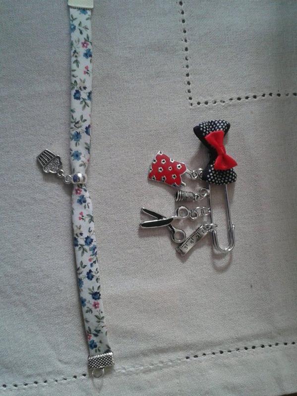 bracelet et broche