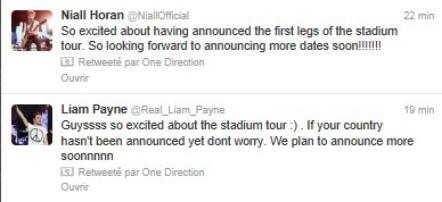 tweet des boys pour la Big Annonce :)
