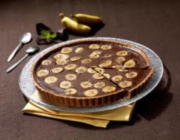 tarte banane-chocolat