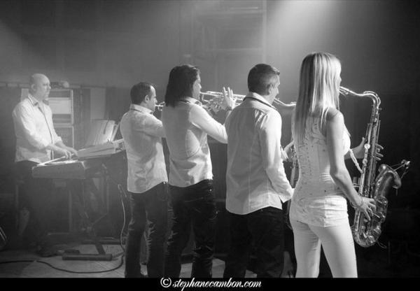 Orchestre live, noir et blanc février 2013