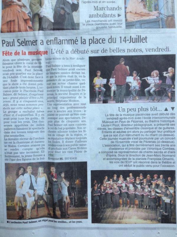Paul Selmer fait danser nos villes et nos villages, été 2013