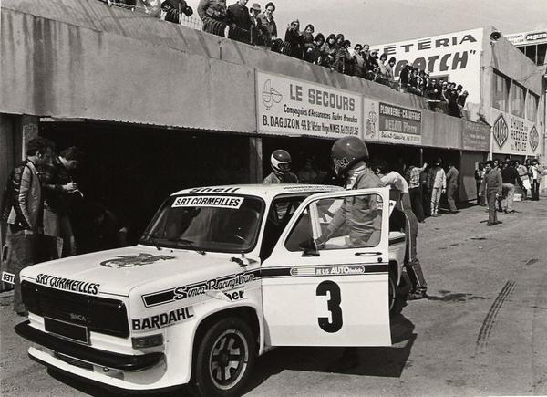 srt cormeilles * circuit de ledenon 1978 William Reiber