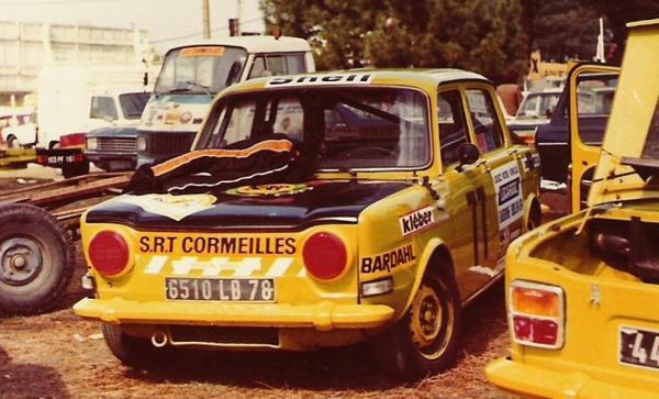 srt cormeilles * Circuit du Bugatti (le Mans)1976 * ma rallye2 à coté celle de pierre de Manassein au Trophée Kléber qui devenu ensuite un ami et mon coéquipier  au William Reiber 1977/78/79 *