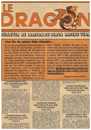 srt cormeilles * Yonne Morvan * srt chambourcy * quelques articles du dragon vert 1978 *
