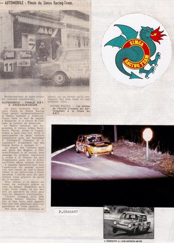 srt cormeilles * Ancien circuit de Charade pour tous les pilotes le juge de paix Claude Michel Dirigeant et ancien pilote l'adorait.............