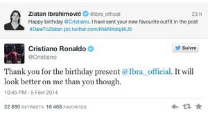 Le cadeau de Zlatan Ibrahimovic pour Cristiano Ronaldo !