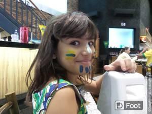 Ambiance hier soir Lors du match Brésil – Mexique à Ribeirao Preto (ville où sont les bleus)