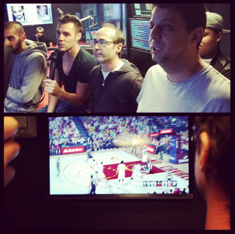 NBA2K15 en direct pendant l'émission !