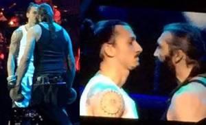 Zlatan Ibrahimovic défie Sébastien Chabal au spectacle des Enfoirés !