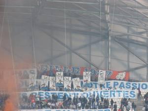 Pendant le match Om Bordeaux