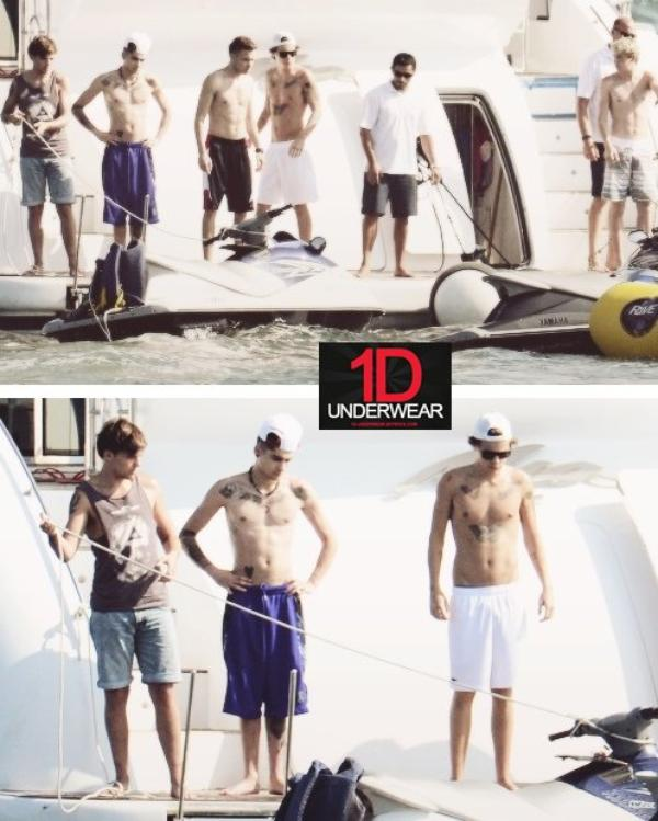 Les photos HOT des One Direction sur leur yacht à Miami ! (Partie 1)