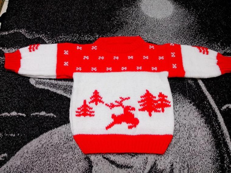 Pull motif hiver
