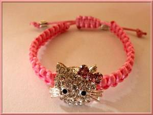 Bracelets shamballa Hello Kitty