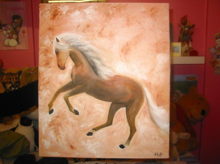 cheval au galop