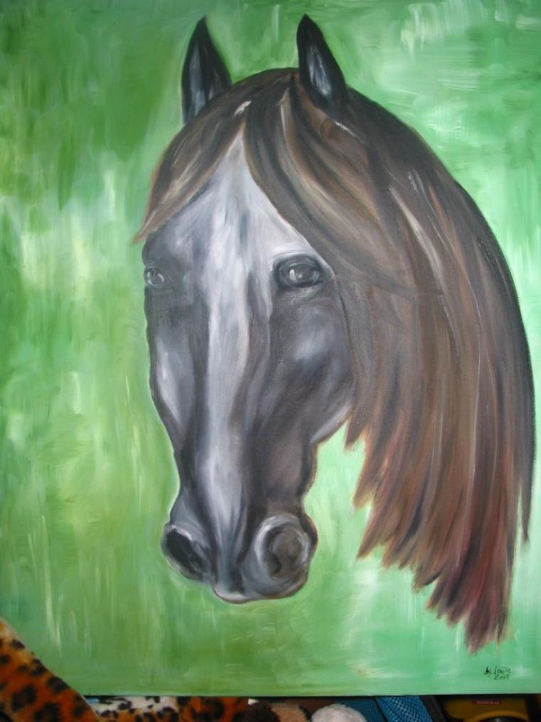 cheval vert