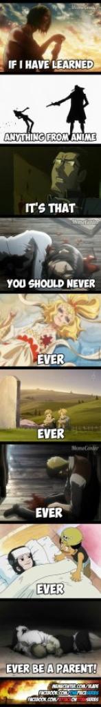 ce que j'ai appris avec les anime