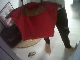 sac longchamp rouge