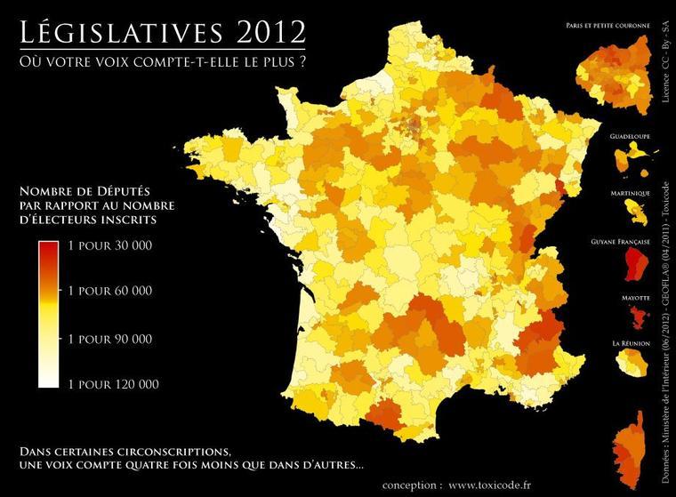 LEGISLATIVES 2012 /  17 JUIN / OU VOTRE VOIX COMPTE T'ELLE LE PLUS