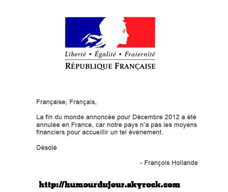 TOUT SUR LA FIN DU MONDE LE 21/12/2012