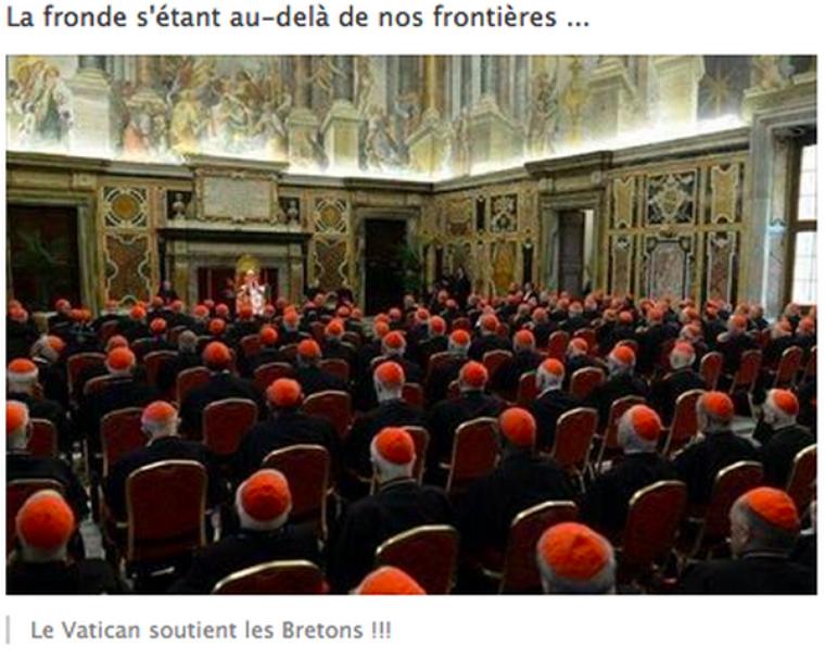 LES BONNETS ROUGES AU VATICAN