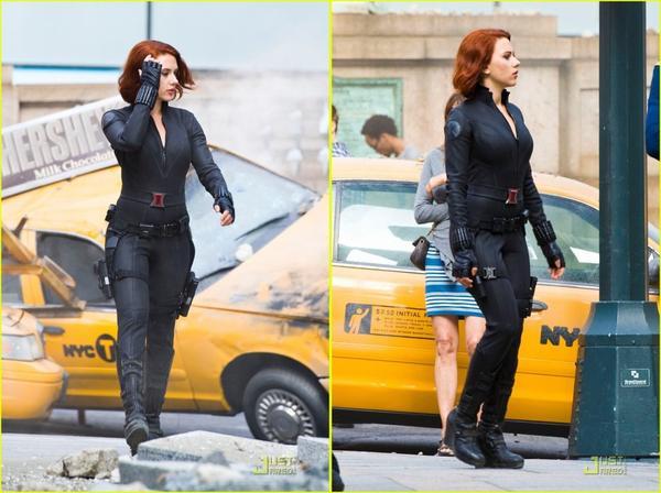 Scarlett Johansson, sur le tournage de '' The Avengers '' !  (suite..)