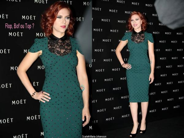 Scarlett Johansson, au  Peninsula Hotel, pour le Moet Chandon Party !