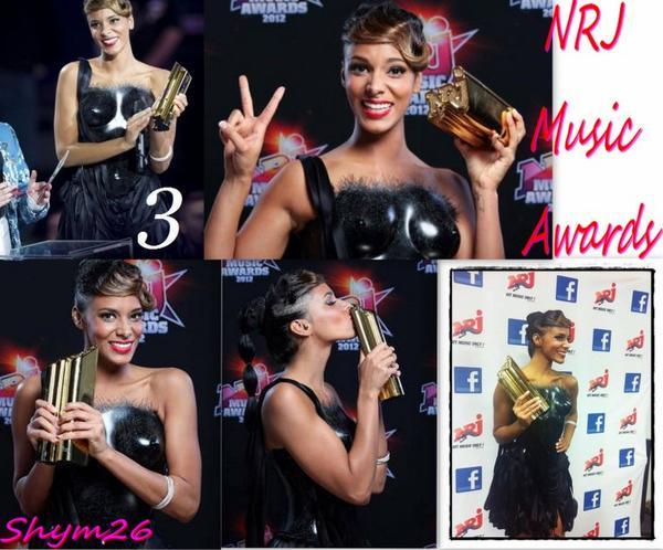 Shy'm aux Nrj Music Awards