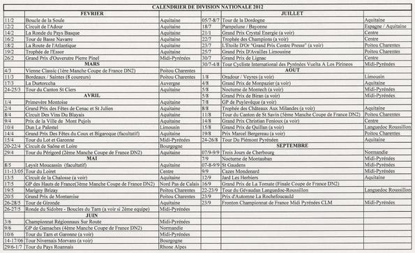Nouvelle Saison Cycliste 2012 ! !