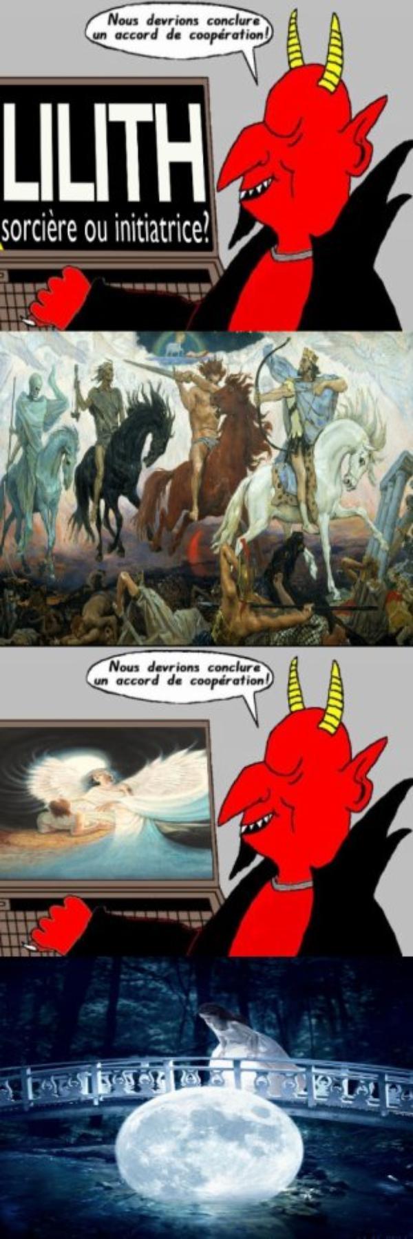 Dans ma famille racine de David (P), nous ne craignons pas Lilith et la flèche de jour , cité dans le Psaume 91. Jusqu'à l'arrivée du Mahdi (p) , ma grande et principal prèocupation est de maintenir le président de la Syrie : Bashar au pouvoir ! !