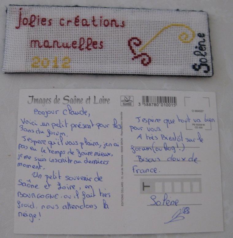 """échange du forum """"jolies créations manuelles"""""""