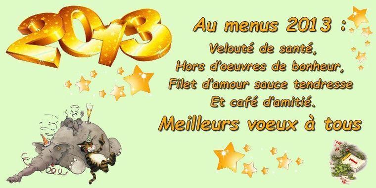 Meilleurs voeux à tous !!!