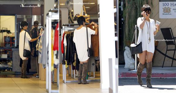 22/08/11: Vanessa a été Vu dans la journée quittant le Organic Watering Hole dans Studio City en Californie.