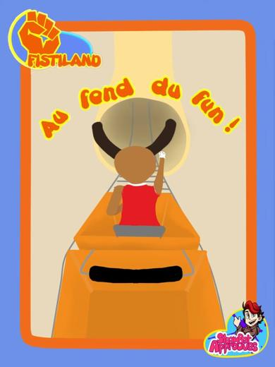 "Affiche publicitaire ""Fistyland"" ( Fanart Papy Grenier ) - Dessin"