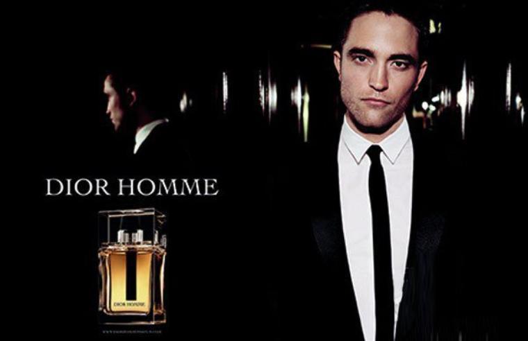 Robert Pattinson pose pour la campagne du  nouveau parfum Dior