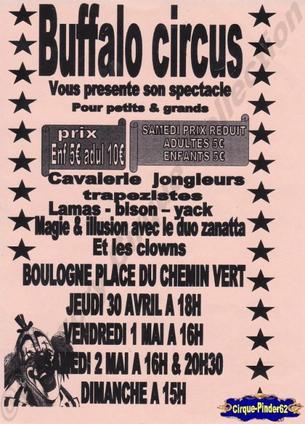 Flyer du Buffalo Circus-2009 (n°4)