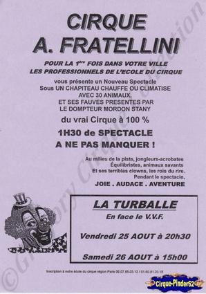 Flyer du Cirque Fratellini (Alain) (n°19)