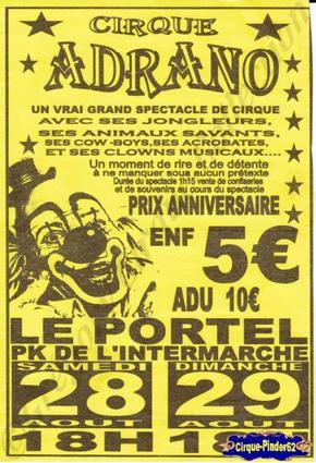 Flyer du Cirque Adrano-2009 (n°30)