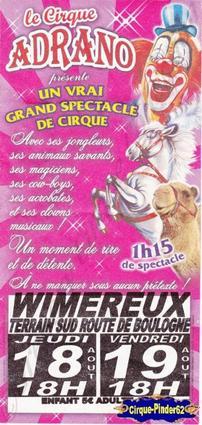 Flyer du Cirque Adrano-2011 (n°87)