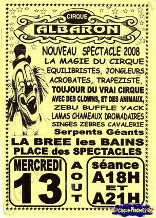 Flyer du Cirque Albaron-2008 (n°67)