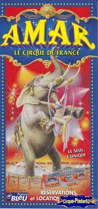 Flyer du Cirque Amar-2003 (n°130)