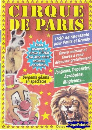 Flyer du Cirque de Paris-2011 (n°86)