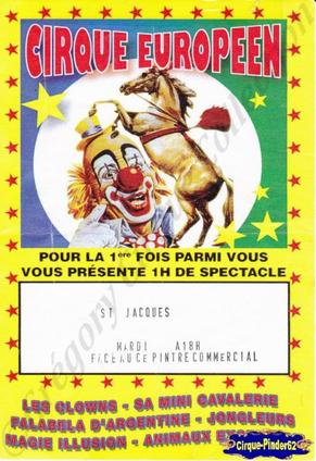 Flyer du Cirque Europeen (n°69)