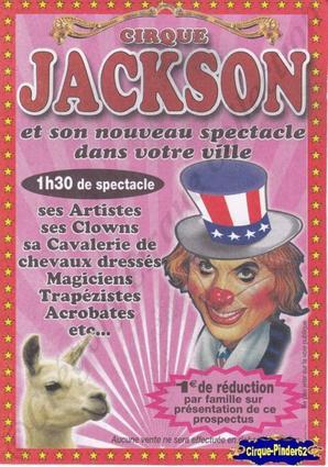 Flyer du Cirque Jackson (n°32)